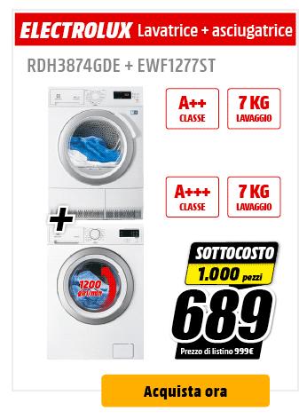 Electrolux - Lavatrice + Asciugatrice