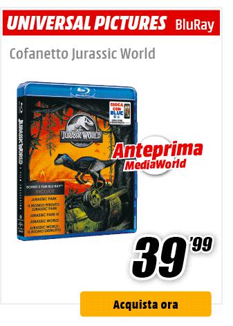 cofanetto Jurassic World BluRay